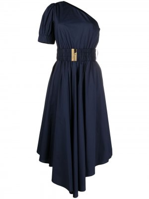 Платье на одно плечо с поясом Michael Kors. Цвет: синий