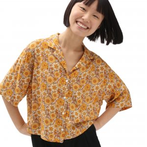 Рубашка Trippy Floral Woven VANS. Цвет: мульти