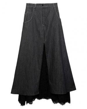 Джинсовая юбка BABYLON. Цвет: черный