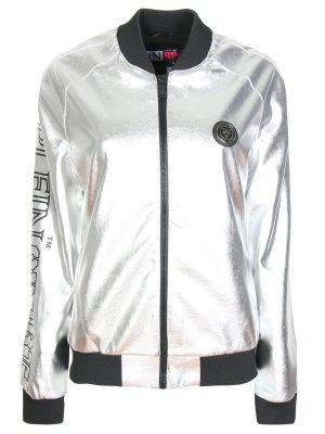 Куртка-бомбер цвета металлик PLEIN SPORT