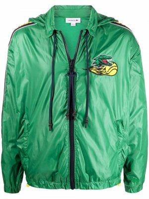 Спортивная куртка с логотипом Lacoste. Цвет: зеленый