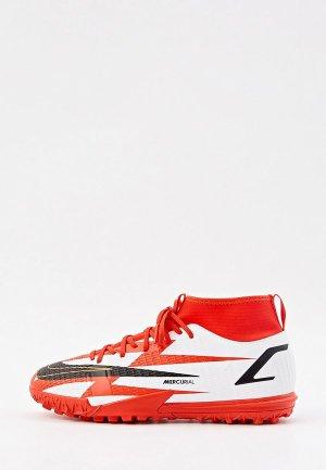 Бутсы зальные Nike JR SUPERFLY 8 ACADEMY CR7 TF. Цвет: белый