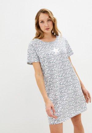 Платье домашнее Blue Seven. Цвет: белый