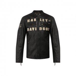 Кожаная куртка 1903 Harley-Davidson. Цвет: чёрный