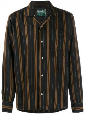 Рубашка Regimental в полоску Gitman Vintage. Цвет: черный
