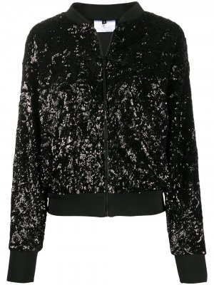 Куртка-бомбер с пайетками Alchemy. Цвет: черный