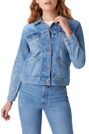 Куртка джинсовая 124Wj Blue Wrangler. Цвет: синий