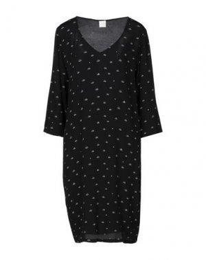 Платье до колена DES PETITS HAUTS. Цвет: черный