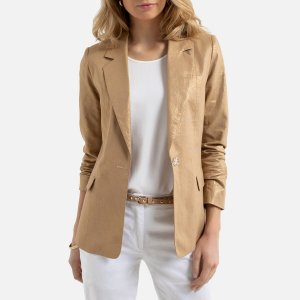 Куртка-блейзер La Redoute. Цвет: бежевый
