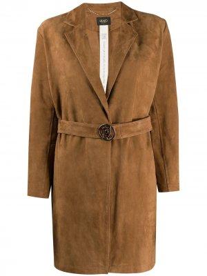 Куртка без застежки LIU JO. Цвет: коричневый
