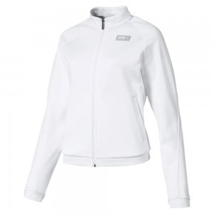 Олимпийка Fusion Track Jacket PUMA. Цвет: белый