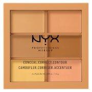 Палетка Professional Makeup 3C Palette - Conceal, Correct, Contour Medium NYX