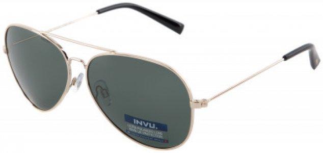 Солнцезащитные очки Invu. Цвет: зеленый