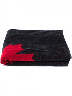 Пляжное полотенце Maple Leaf Dsquared2 Kids. Цвет: черный
