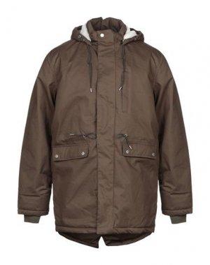 Пальто BELLFIELD. Цвет: зеленый-милитари
