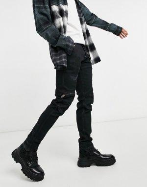 Черные узкие джинсы 3D-Голубой G-Star