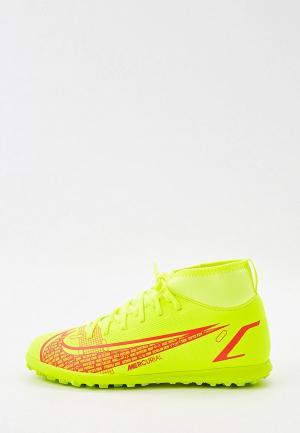 Шиповки Nike JR SUPERFLY 8 CLUB TF. Цвет: зеленый
