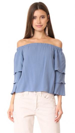Блуза Stella с открытыми плечами Ella Moss. Цвет: шамбре