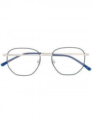 Солнцезащитные очки в шестиугольной оправе Lacoste. Цвет: синий