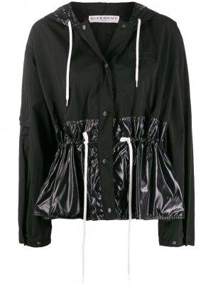 Укороченная присборенная ветровка Givenchy. Цвет: черный