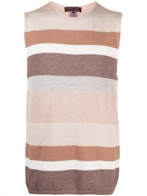 Полосатый жилет Comme Des Garçons Shirt. Цвет: коричневый
