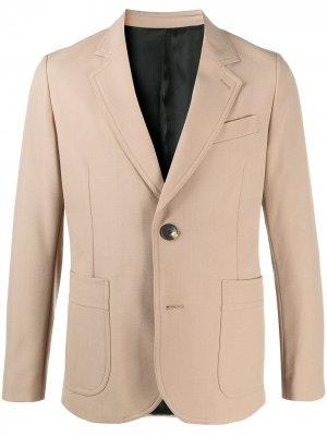Однобортный пиджак AMI Paris. Цвет: нейтральные цвета