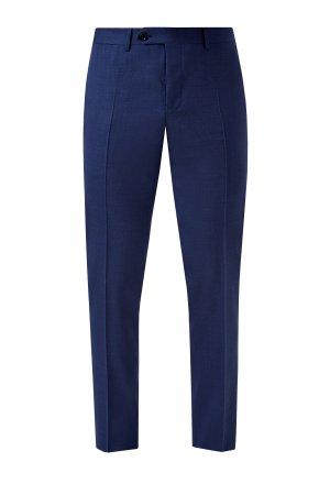 Классические брюки из немнущейся шерстяной ткани Impeccabile CANALI. Цвет: синий