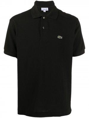 Рубашка-поло с вышитым логотипом Lacoste. Цвет: черный
