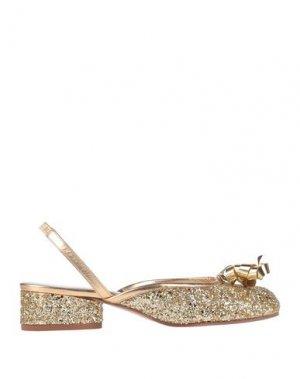 Туфли MAISON MARGIELA. Цвет: золотистый