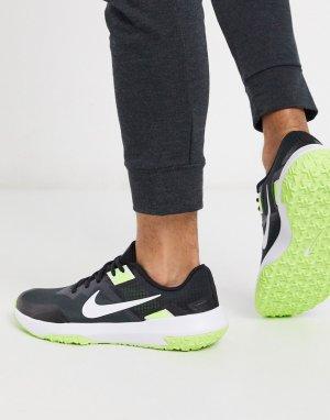 Кроссовки черного и неоново-зеленого цвета Varsity Compete 3-Черный Nike Training