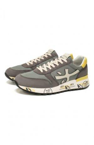Комбинированные кроссовки Premiata. Цвет: серый