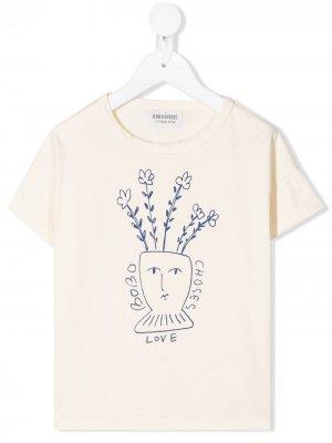 Love T-shirt Bobo Choses. Цвет: нейтральные цвета
