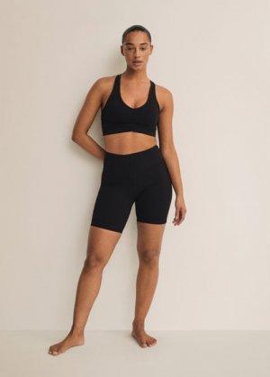 Спортивный бюстгальтер с перекрещенной спинкой - Lindsay Mango. Цвет: черный