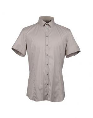 Рубашка с короткими рукавами PATRIZIA PEPE. Цвет: бежевый