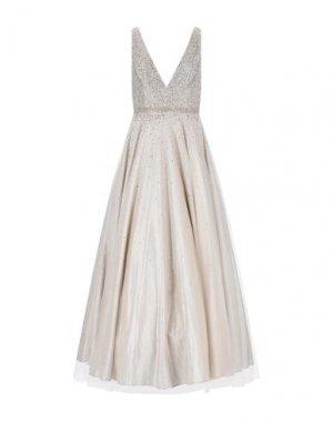 Длинное платье JOVANI. Цвет: платиновый