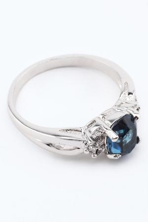 Кольцо Slava Zaitsev. Цвет: серебро, синий
