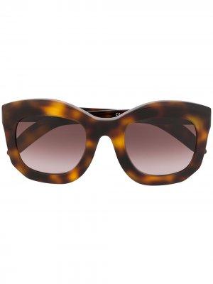 Солнцезащитные очки оверсайз Mask B2 Kuboraum. Цвет: коричневый