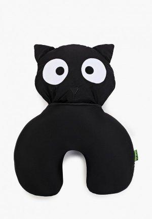 Подушка декоративная Gekoko Черный кот. Цвет: черный