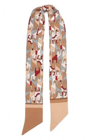 Шелковый шарф-бандо Regina Delle Ande Loro Piana. Цвет: бежевый