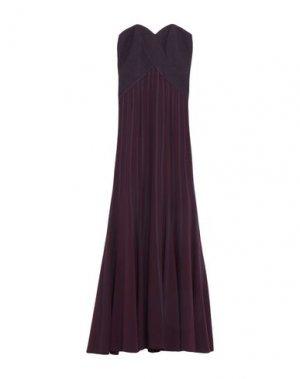 Длинное платье HALSTON. Цвет: баклажанный