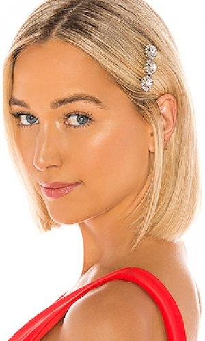 Гребень для волос crystal Elizabeth Cole. Цвет: металлический серебряный