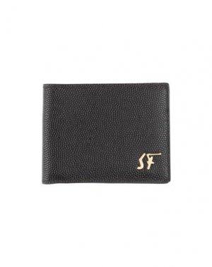 Бумажник SALVATORE FERRAGAMO. Цвет: темно-коричневый