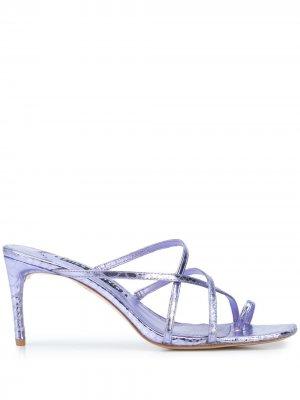 Босоножки на высоком каблуке с ремешками Alice+Olivia. Цвет: фиолетовый