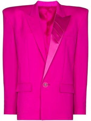 Однобортный блейзер The Attico. Цвет: розовый