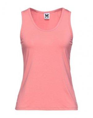 Майка M MISSONI. Цвет: лососево-розовый
