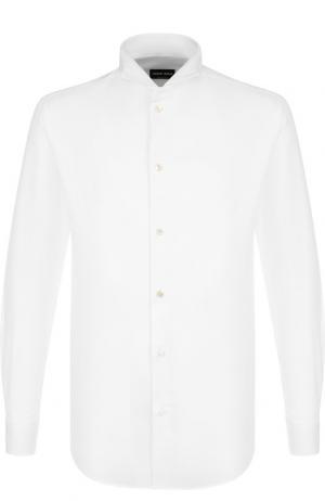 Хлопковая сорочка под смокинг Giorgio Armani. Цвет: белый