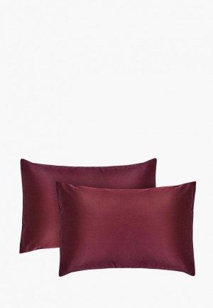 Комплект наволочек Dream Time 40х60 см. Цвет: бордовый