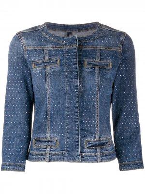 Декорированная джинсовая куртка LIU JO. Цвет: синий