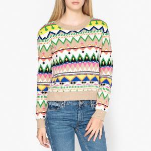 Пуловер с круглым вырезом из трикотажа JOSEPH PAUL & JOE SISTER. Цвет: разноцветный