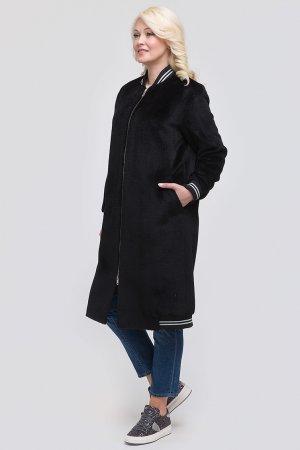 Пальто из альпака в спортивном стиле ALIV. Цвет: черный